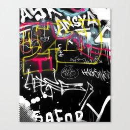 New York Traces - Urban Graffiti Canvas Print