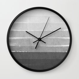 Brushstroke - Ombre Grey, Charcoal, minimal, Monochrome, black and white, trendy,  painterly art  Wall Clock