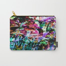 Misted Floral Carry-All Pouch