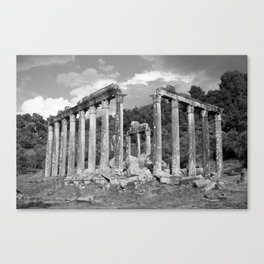 Euromos Ruins Black and White Photography Canvas Print