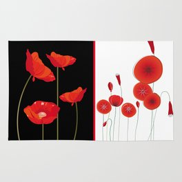Flaming Poppies Rug