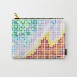 Pixelated Nebula Red Carry-All Pouch