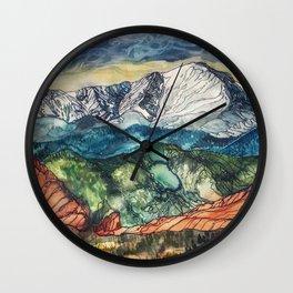 Pikes Peak Print Wall Clock