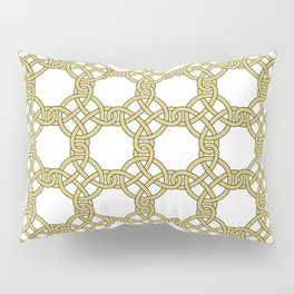 Gold & White Knotted Design Pillow Sham