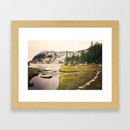 Meandering Mountain Path Framed Art Print