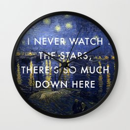 I Never Watch the Starry Night Wall Clock