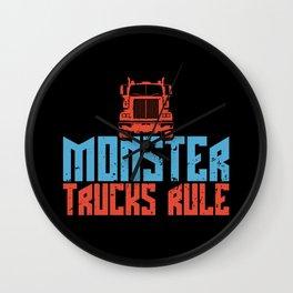 Monster Trucks Wall Clock