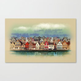 House, Bruges, Belgium Canvas Print