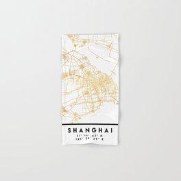 SHANGHAI CHINA CITY STREET MAP ART Hand & Bath Towel