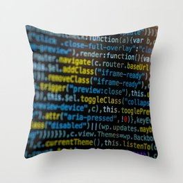 Code Master (Color) Throw Pillow
