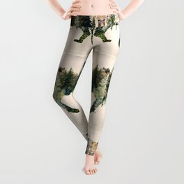 Wolf is the Pride of Nature Leggings