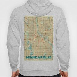 Minneapolis Map Retro Hoody
