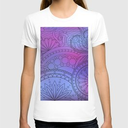 colorful pattern with mandalas T-shirt