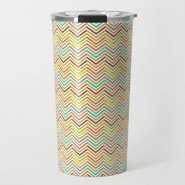 Colorful abstract modern geometrical chevron pattern Travel Mug