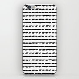 Black Ink Brush Dash Lines iPhone Skin