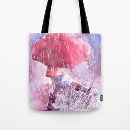 Umbrella watercolor illustration Tote Bag