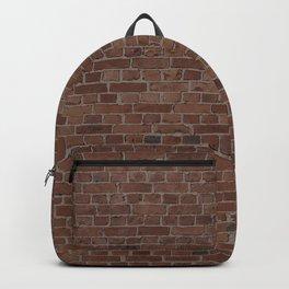 NYC Big Apple Manhattan City Brown Stone Brick Wall Backpack