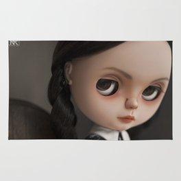Erregiro Blythe Custom Doll Wednesday Addams Rug