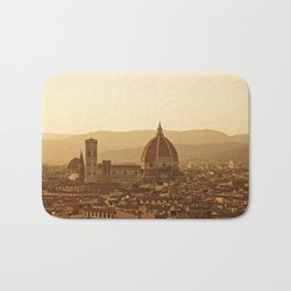 Florence skyline At Sunset Bath Mat