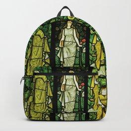 "William Morris ""Four seasons"" (Dining Room at Cragside House, Northumberland, UK) Backpack"