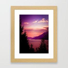 Sunset Sea to Sky Framed Art Print