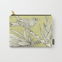 Bird on Orchid Cactus Carry-All Pouch