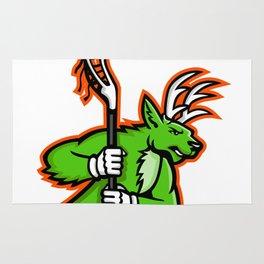 Stag Deer Lacrosse Mascot Rug
