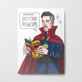 Doctor Strange reading Doctor Strange Metal Print