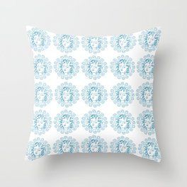 Summer symbolic art Throw Pillow