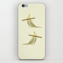 Cockatiel & Pencil iPhone Skin