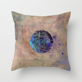 Death Star Crystal Grid Throw Pillow