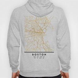 BOSTON MASSACHUSETTS CITY STREET MAP ART Hoody