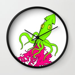 Billy And The Matts Neon Squid Wall Clock