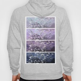 Vincent Van Gogh : Almond Blossoms Panel Art Dark Blue Purple Lavender Hoody