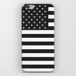 American Flag Stars and Stripes Black White iPhone Skin