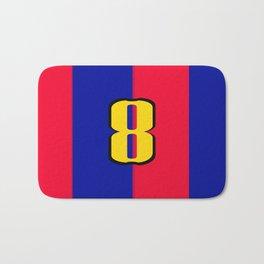 soccer team jersey number eight Bath Mat