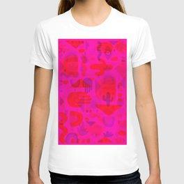 Neon Cutout Print T-shirt