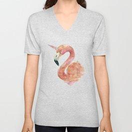 Be Special - Flamingo Unicorn Unisex V-Neck