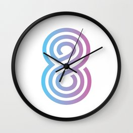 Cotton Candy 8 Wall Clock