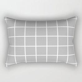 grey cube Rectangular Pillow