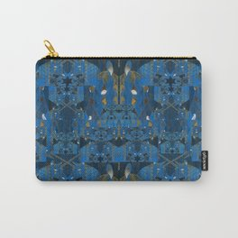 Blue Indigo Unicorn Fractal Carry-All Pouch