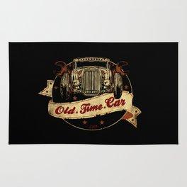 Old Time Car Hot Rod Rug