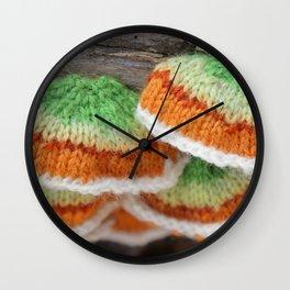 Knitted False Turkey Tail  Wall Clock