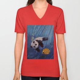 Panda Diver Unisex V-Neck