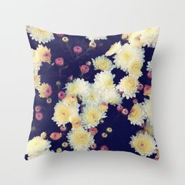 Mums in the Fall Throw Pillow