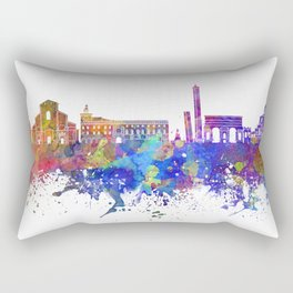 Bologna skyline in watercolor background Rectangular Pillow