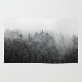 Black and White Mist Ombre Rug