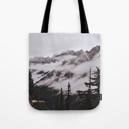 Fog in the Cascades Tote Bag