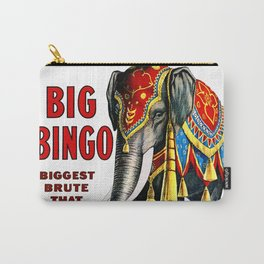 Big Bingo - Vintage 1916 Circus Poster Carry-All Pouch