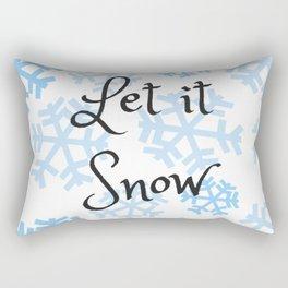 Let it Snow Snowflakes Rectangular Pillow